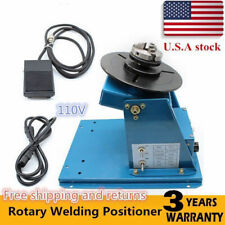 """New listing 2.5"""" Rotary Welding Positioner Turntable Table 3 Jaw Lathe Chuck 2-10 r/min"""