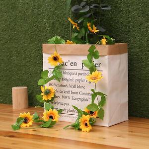 7.8FT Fake Sunflower Flowers Garland Artificial Ivy Silk Leaf Plants Home Decor