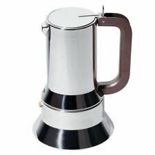 """Alessi """"9090"""" Stainless Steel 6 Cup Induction Espresso Coffee Maker"""
