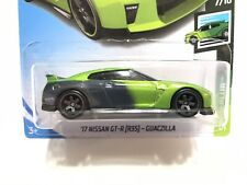 2019 Hot Wheels Nissan GT-R R35 Tanner Fox Guaczilla w/Real Riders SUPER CUSTOM