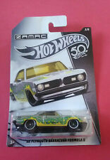 HOT WHEELS - 68 PLYMOUTH BARRACUDA - ZAMAC - 50TH - LONGUE CARTE - FRN26 - 5774