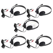 5Pcs 3.5mm Jack Computer Headphone with Microphone Stereo Headset For PC Laptop