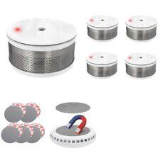 5 x Design Mini Rauchmelder Rauchalarm Brandmelder ohne bohren CORDES CC 7 weiß