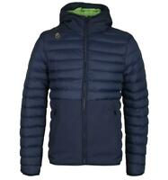 LUKE 1977 Navy Bubbla Heavyweight Jacket Water Resistant Hooded Puffer for Men