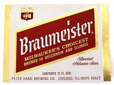 Peter Hand BRAUMEISTER - SPECIAL PILSENER BEER foil beer label IL 12oz