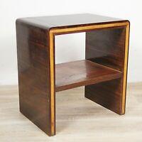 Tavolino antico art deco Comodino mobile vintage usato in legno modernariato