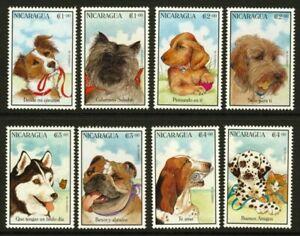 Nicaragua 2154-61 MNH Dogs