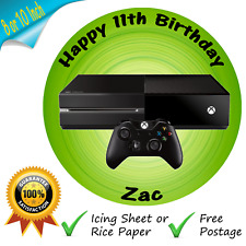 XBOX CAKE TOPPER PERSONALISED EDIBLE XBOX ONE GAMING BIRTHDAY CAKE TOPPER