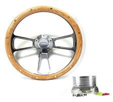 Oak Steering Wheel 1960 - 1969 K10 K20 K30 Pick Up Truck Chevy Horn, Adapter Kit