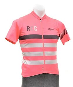 Rapha Men RCC Pro Team Mid Weight Short Sleeve Jersey MEDIUM Hi Viz Pink Bike