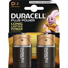 Confezione 2 Pile Batterie Duracell Plus Power D Lr20 Mn1300 Torce moc