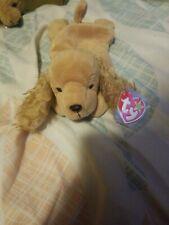 Ty Beanie Babies Spunky Cocker Spaniel Dog Brown 1997 New Plush Stuffed Toy
