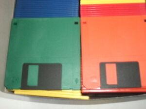 "3.5"" Disks 25 RAINBOW PC Floppy Diskettes IBM Formatted 3.5"" DS HD 1.44 Meg ART"