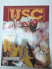 1989 USC TROJANS SOUTHERN CALIFORNIA VS OHIO STATE FOOTBALL PROGRAM NCAA