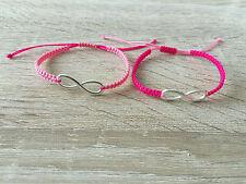 2x DIY placa Pulsera Brazalete amistad pulsera * Infinity * rosa plata nuevo