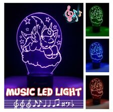 LED Night Light Music Bluetooth Speaker Color Change SD/TF card Unicorn Design