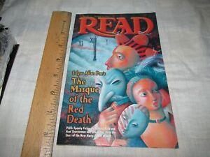 Read Weekly Reader magazine 2002 Edgar Allan Poe Masque of the red Death School