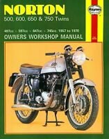 Haynes Manual 0187 Norton / Matchless 500cc 600cc 650cc 750cc Twins 1957 to 1979