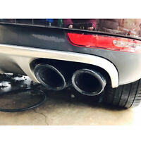 Glossy Black Rear Tail Exhaust Tips Muffler Pipe for Porsche Panamera 2017+