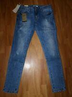 Nina Carter Damen Push Up Jeans Stretch Gr XL Jeggings Blau Used Skinny Röhre