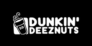 "Dunkin' Deeznuts 8"" Funny Car Laptop Truck Window Vinyl Decal Sticker 12 COLORS"