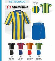 Completo Calcio/Calcetto SPORTIKA (maglia Monaco +pant. Laser) colori a scelta