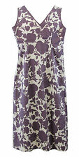 BODEN Women's Lilac/White Floral Sleeveless V-Neck Cotton Dress US Size 4L NEW