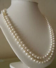 "40"" 8-9mm south sea round white pearl necklace"