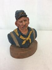 Michael Garman 1985 Union Soldier ceramic Bust - Dated and Named