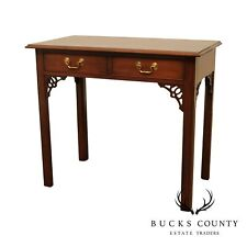 The Bartley Collection Chippendale Style Cherry 2 Drawer Writing Desk