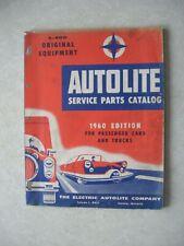 Vintage Auto-Lite Service Parts Catalog 1960 Cars Trucks Edition 1950-1960