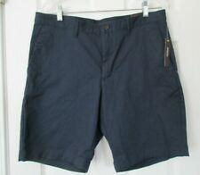 NWT Michael Kors $74.50 Stretch Casual Dress Shorts Men's 32 Midnight Navy Blue