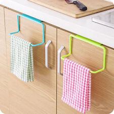 Over Door Towel Rack Bar Hanging Holder Bathroom Kitchen Cabinet Shelf Blue  NEW