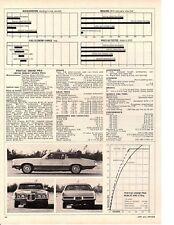 1969 PONTIAC ROYAL BOBCAT GRAND PRIX 428/370 HP ~ ORIGINAL SPECS ARTICLE / AD