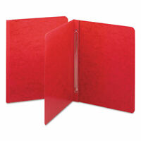 Smead Side Opening PressGuard Report Cover, Prong Fastener, Letter, Bright Red,