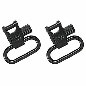 Uncle Mikes Tri Lock Quick Detach Blued Sling Swivel Set 1 1/4 Inch Brand New