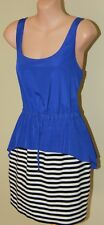 Womens Black, Blue and White Dress - Forever New - Size 12