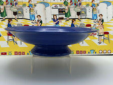 "Vintage Fiesta 12"" Comport Footed Bowl Original Cobalt Blue 1935 - 1946"