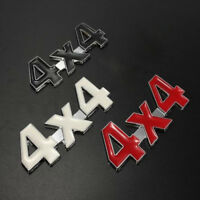 New Car Chrome Metal 3D 4X4 Displacement Emblem Badge  Auto Motor Sticker Decal