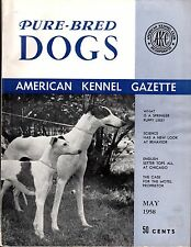 Vintage American Kennel Gazette May 1958 Whippet and Greyhound Cover