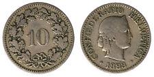 Svizzera Switzerland Helvetia 10 Rappen 1883B #434A