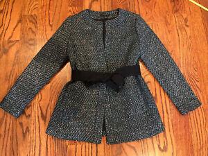 Nwot Ann Taylor Green Sparkle Jacket Blazer Sz XSP XS Petite