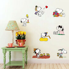 Removable Children bedroom Wall Stickers Snoopy Peanuts dogs Figure Stickers 2#