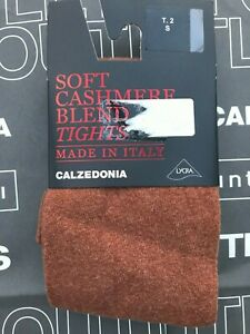 Calzedonia soft cashmere blend tights, size S (2), brick, BNWT