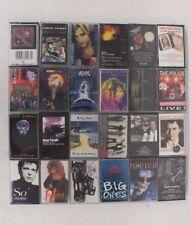 (24) Cassettes w/Case The Police Huey Lewis AC/DC Aerosmith Deep Purple RATT ++