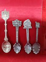 Vintage Collectible Souvenir Spoon - Pewter Carson City Nevada Lot of 4