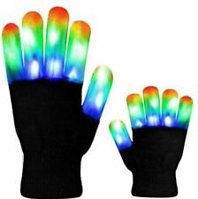 Luminous LED Gloves Colorful Costume Props For Halloween Stage Performance 1pair