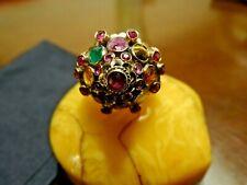 anello antico  art deco' con pietre dure