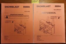 Teamco 8600A Snowblast Snow Blower Owner's Operator's Manual + Parts Manual 2008