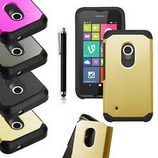 For Nokia Lumia 530 Dual Layer ShockProof Protective Combo Box Case Cover+Stylus